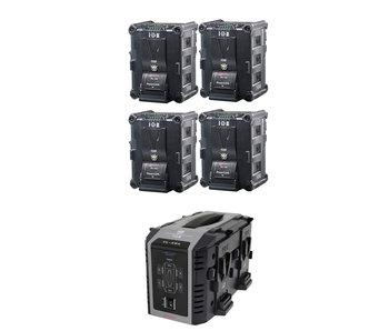 IDX IP-150/4SE - 4x IPL-150 Akku & VL-4Se Ladegerät