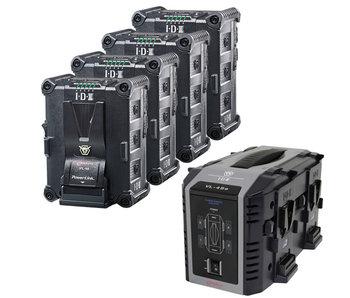 IDX IP-98/4Se - 4x IPL-98 Akku & Ladegerät VL-4Se