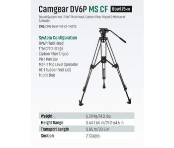 DV6P MS CF, Mittelspinne, max. Traglast 10kg