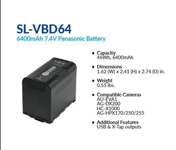 IDX SL-VBD 64  - 4 Stück / Set