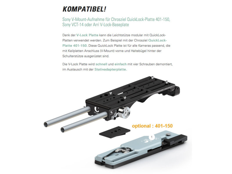 Chrosziel LIGHTWEIGHT SUPPORT (LWS) 401-C700 for Canon EOS C700 / C700 FF & GS