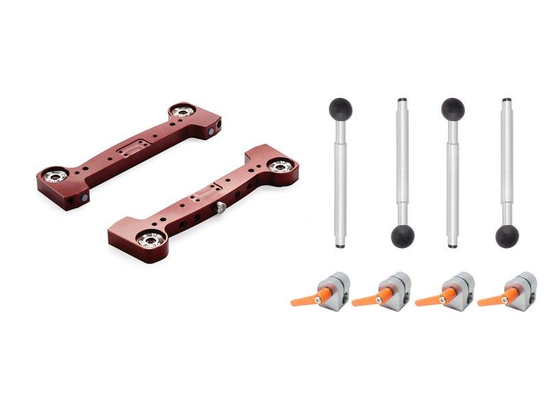"MYT WORKS Rosette Leg Adapters 3/8 (4pk) with Large Aluminum End Trusses and 7"" Rosette Legs (4pk)"