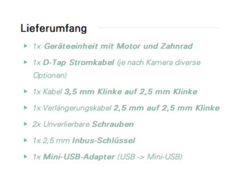 Chrosziel CDM-MK-Z2 - Servo Motor Version 2 für Fujinon
