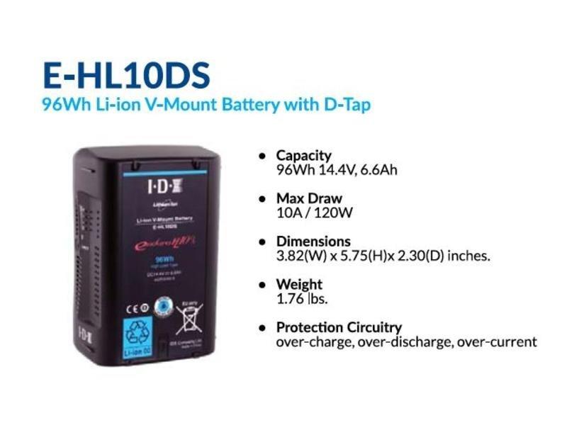 IDX 4x E-HL10HS Akku + 1x VL-2X