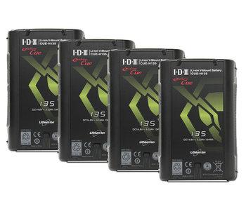 IDX CUE-H135 ( 4 Stück ) - 14.8V 134 Wh V-Mount Akku