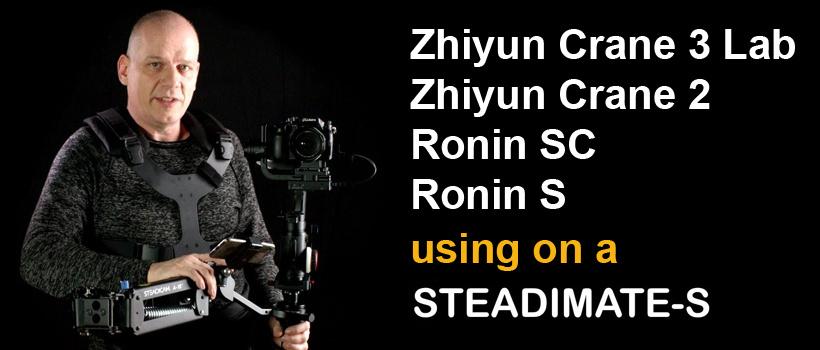 neuer Adapter für Ronin-SC & Zhiyun Crane 3 Gimbal