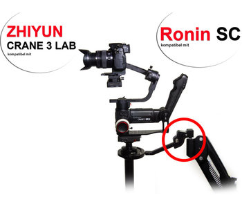 Upside-Down Adapter für Zhiyun Crane 3 Lab & DJI Ronin-SC