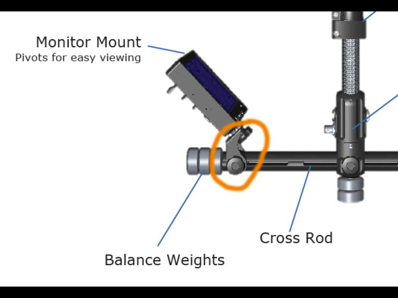 monitor mount Aero/Zephyr #825-7500