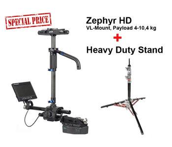 Steadicam Zephyr HD, Sled, VL-Mount, ZEBXHMBVZZ + Stand