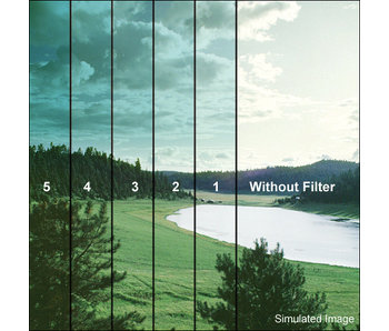 Tiffen Filters 4x4 Clear/Cyan 1 Grad Soft Edge (SE) Filter - 44CGCY1S