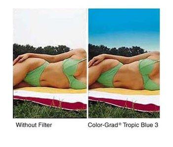 Tiffen Filters 4x4 Clear/Tropic Blue 1 Soft Edge (SE) Filter - 44CGTB1S