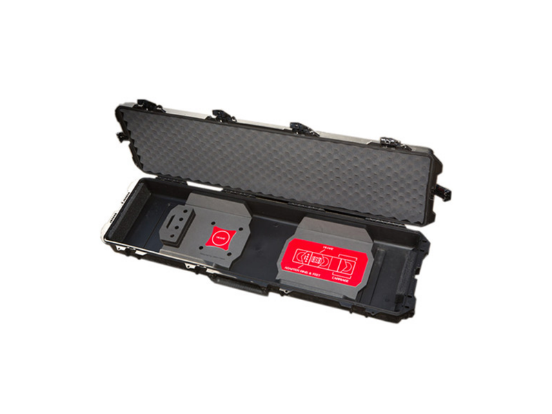 MYT WORKS, Inc. Custom hard carrying case with laser-cut foam design for our Camera Sliders