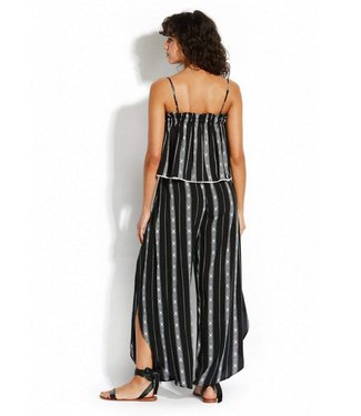 Seafolly Las Palmas Lattic Stripe Wrap Set Black
