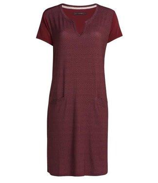 Essenza Macy Mini Home Dress Short Sleeve Red