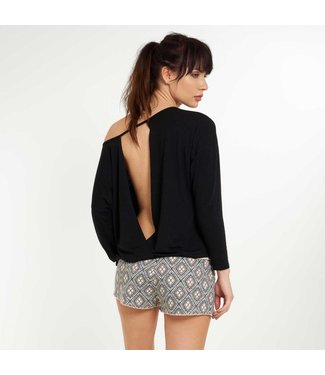 Lingadore Moon Lange Mouw Crossover Top Black
