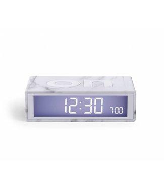 Lexon Flip Clock 2 Marbre White