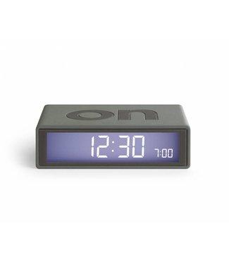 Lexon Flip Clock 2 Mastic Grey