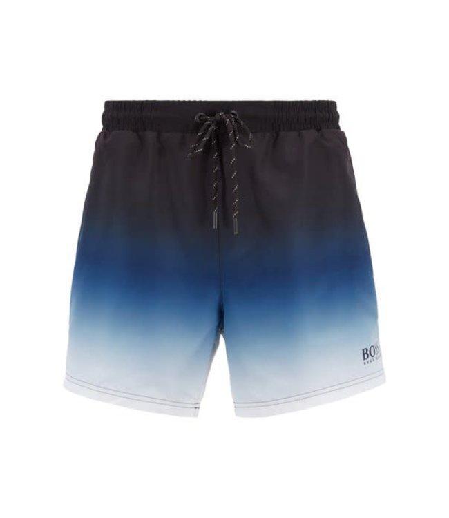 Hugo Boss Zwemshort Mandarinfish Dégradé Open Blue