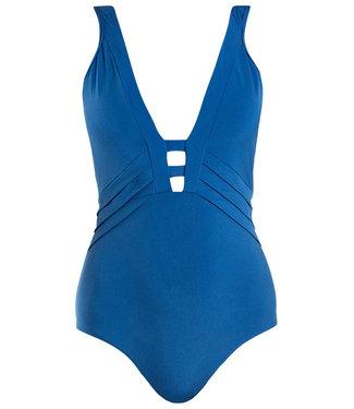 Jets Swimwear Plunge Onepiece Lunar Blue