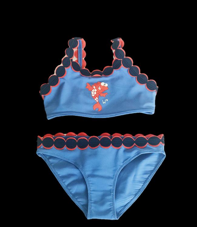 Woody Bikini Blauw Koi 191-1-ZWC-A/835