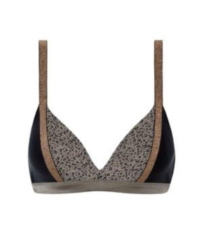 Beachlife Cheetah Color Block Bikinitop 970109-960