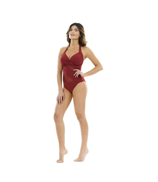 Miradonna By Miraclesuit Badpak Ilizia M19-018-Napa Red