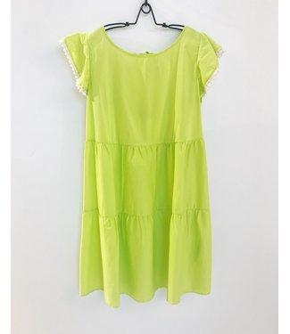 Twin-Set Poppy Cotton Dress Lemon Juice