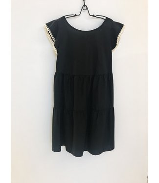 Twin-Set Poppy Cotton Dress black