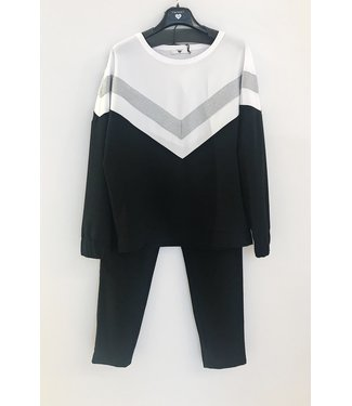 Twin-Set Black & White Suit Silver V