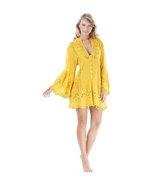 Iconique Saffron Beach Bella 3/4 Minidress