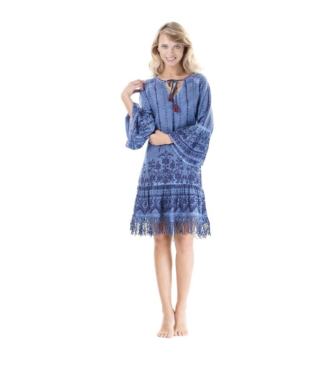 Iconique Ria Kaftan Indigo Pool Denim