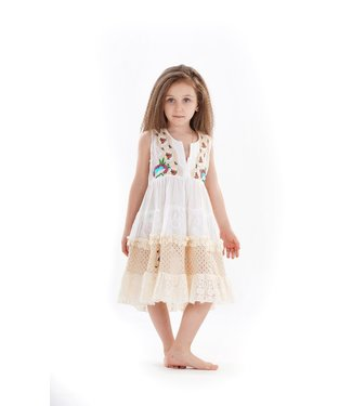 Iconique Girls Romance Mina Jr. Minidress Ivory