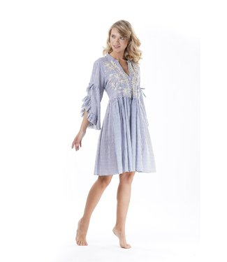 Iconique 3/4 Sleeve Dress Santorini Elena Light Blue