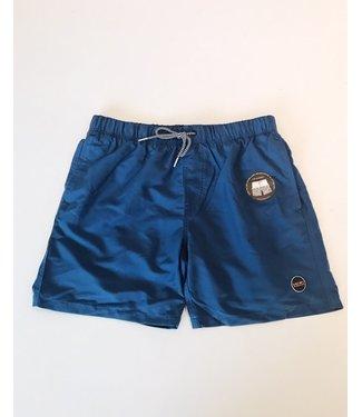 Shiwi Men Swim Short Magic Palmtree Jeans Blue
