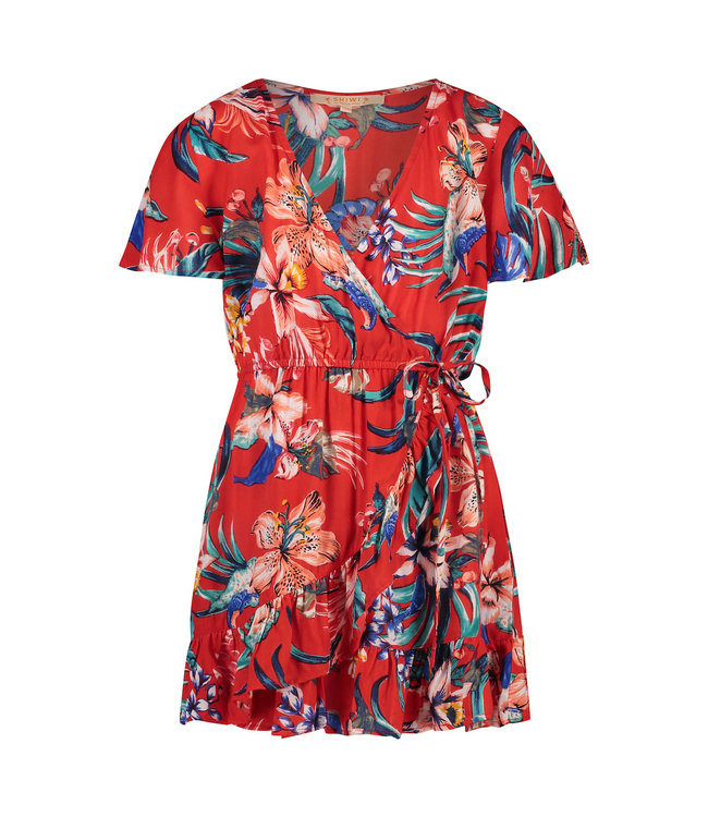 Shiwi Girls Sayulita Wrap Dress Flame Red