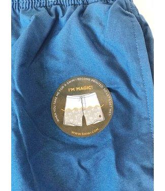 Shiwi Boy Swim Short Magic Palmtree Jeans Blue