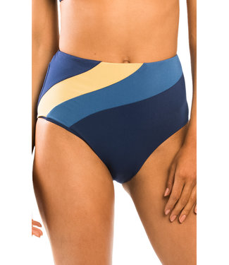 Jets Swimwear High Waist Pant Navy/Gold