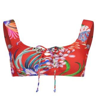 Shiwi Girls Offshoulder Bikini Set Sayulita Flame Red