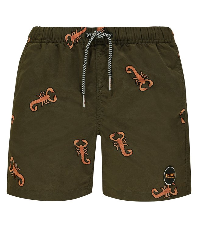 Shiwi Men Swim Short Scorpion Seaturtle Green