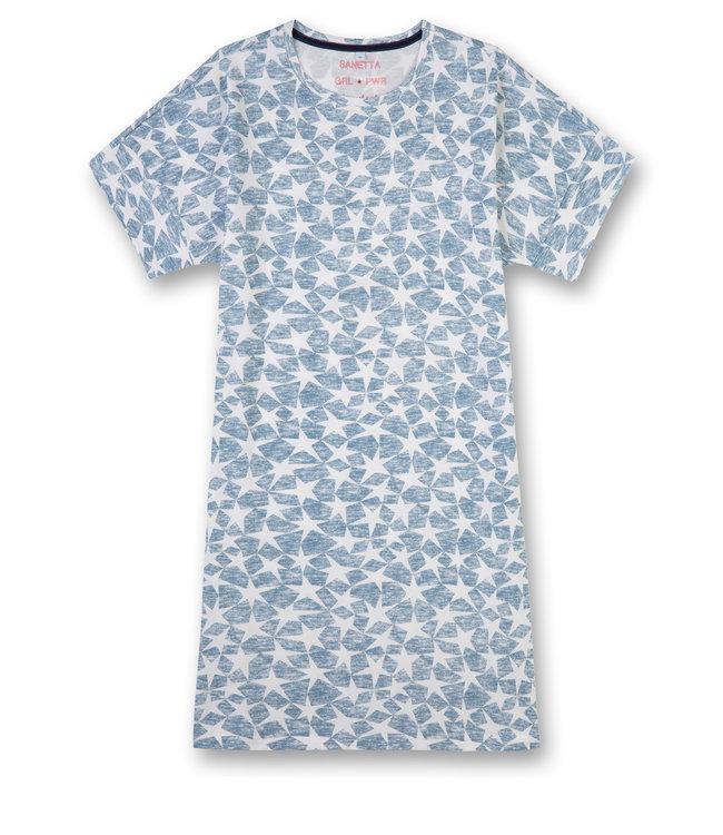 Sanetta Girls Sleepshirt Power Allover Stars