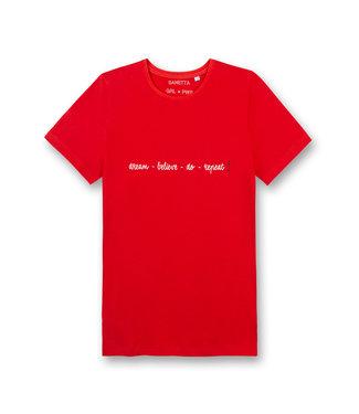 Sanetta Girls T-shirt Power Dream Believe Red