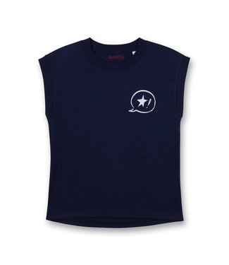 Sanetta Girls T-shirt Power One Star Dark Blue