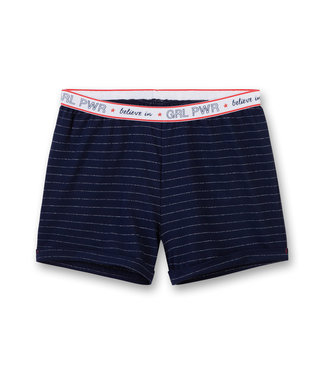 Sanetta Girls Shorts Power Striped Believe In Blue