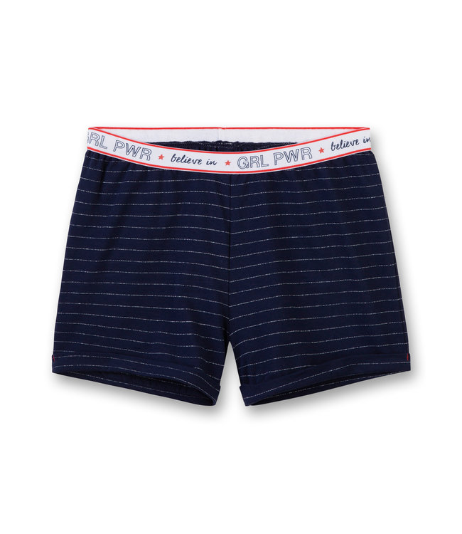 Sanetta Girls Shorts Power Striped Believe In Blue