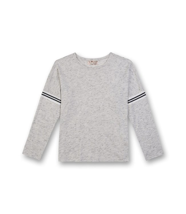 Sanetta Girls LS T-shirt Power Melange Grey