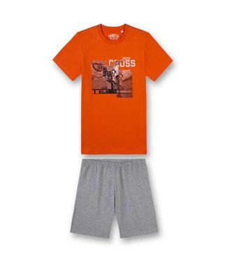 Sanetta Boys Short Pyjama Motocross Orange
