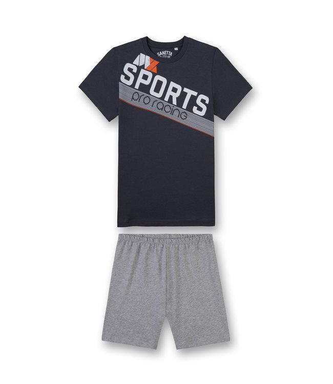 Sanetta Boys Short Pyjama Sports Grey