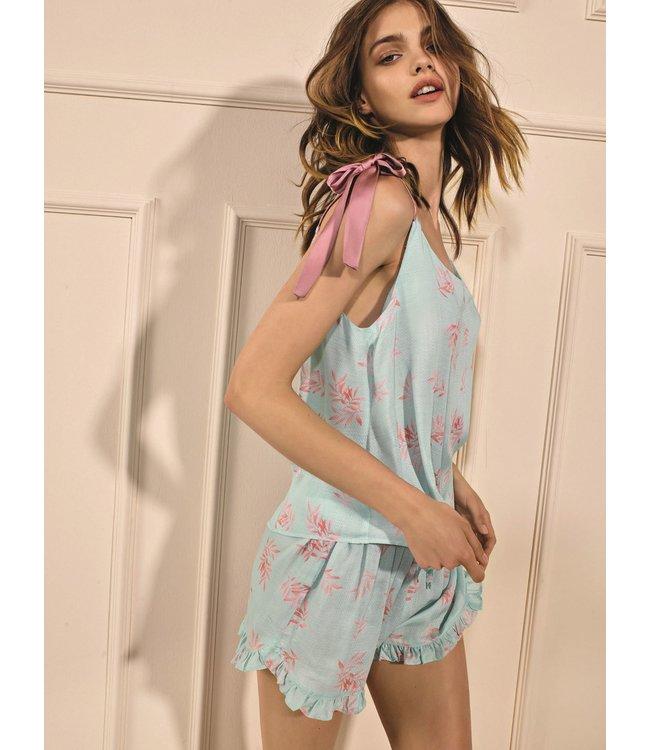 Twin-Set Pyjama St. Leaf Blue Mousse 2FCC