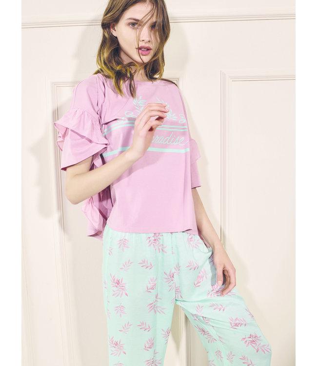 Twin-Set Pyjama St. Leaf Blue Mousse