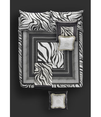 Roberto Cavalli Frame Zebrage grey donsovertrek 240x200/220 + 2 slopen 60x70